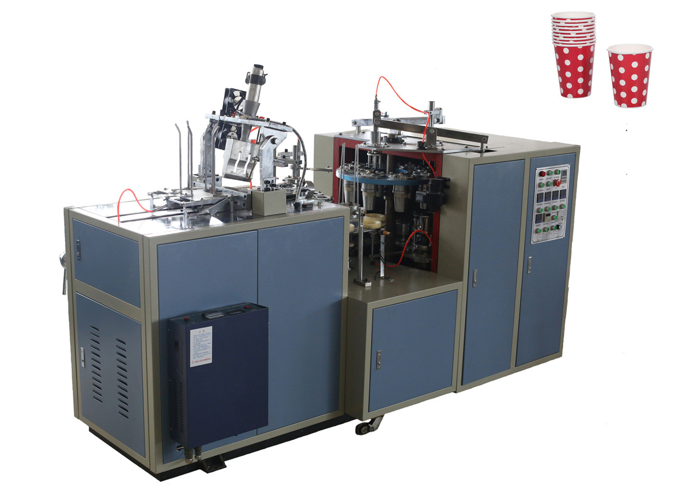 Takeaway Coffee Paper Cup Making Machine Cup Size 50ML - 350ML With Alarming System