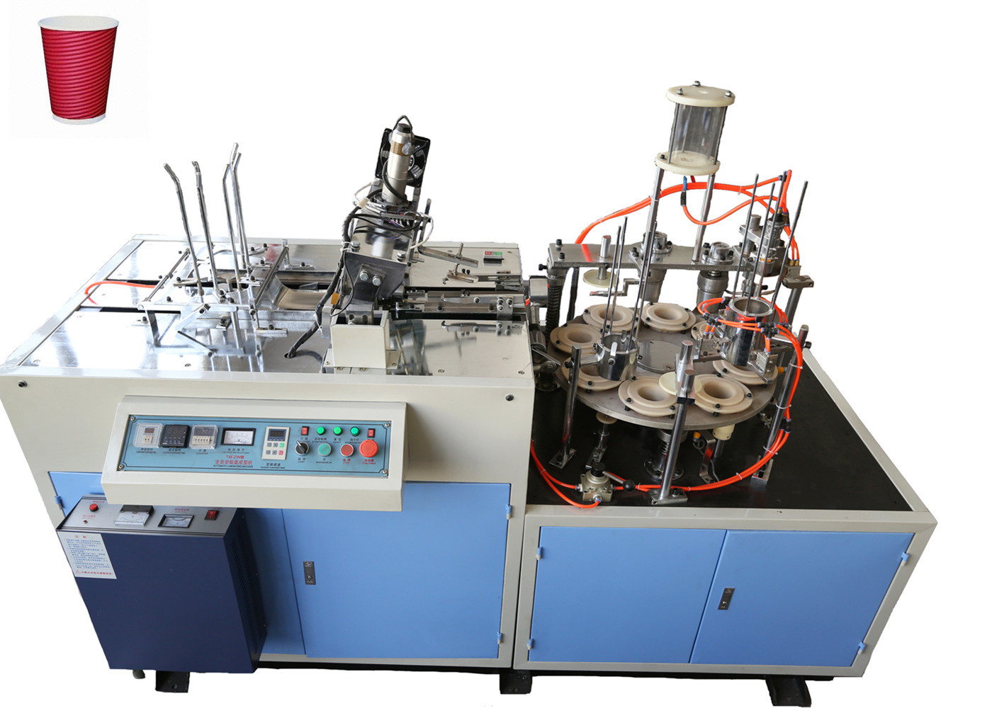 Ripple Double Wall Paper Cup Sleeve Machine High Production With Ultrasonic Heater Sealing