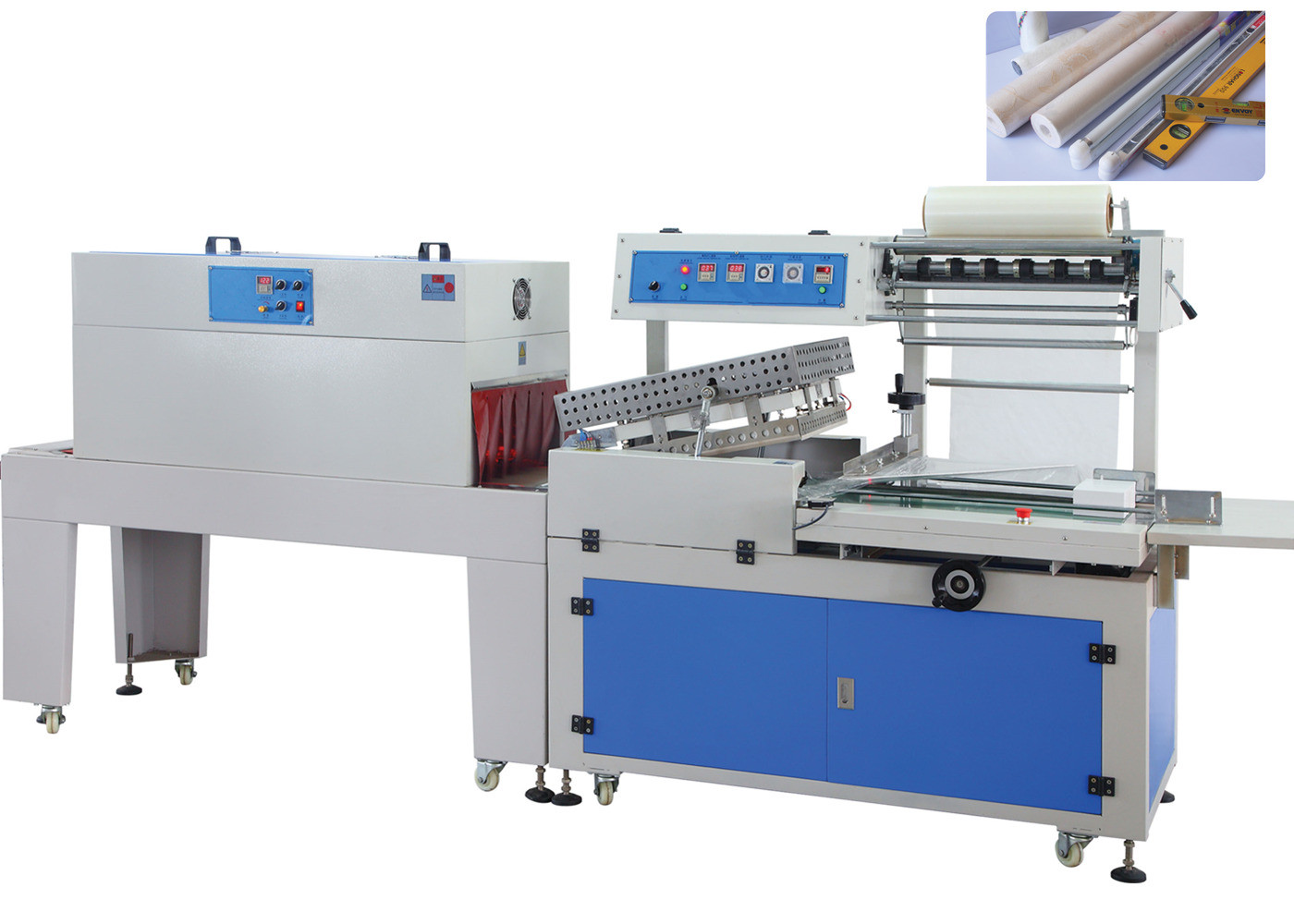 Full Automatic POF Film Shrink Wrap Machine For Books , Shrink Wrapper Machine