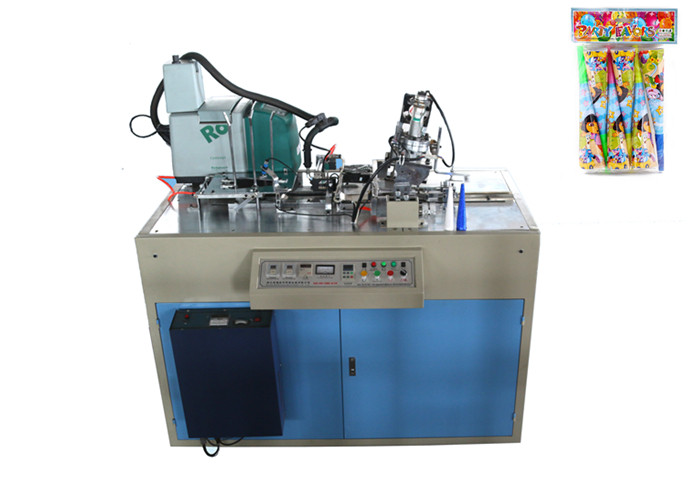 Full Automatic Birthday paper Funnel Forming Machine With Hot Melt Glue System