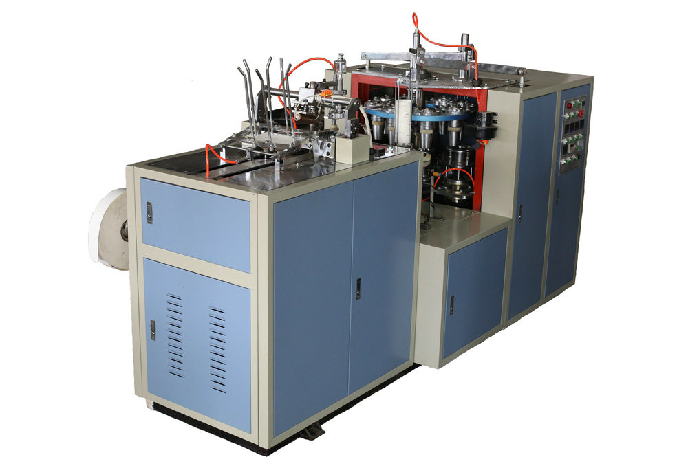 Fully Automatic Paper Cup Making Machine With PLC Controller 70~90 PCS / Minute