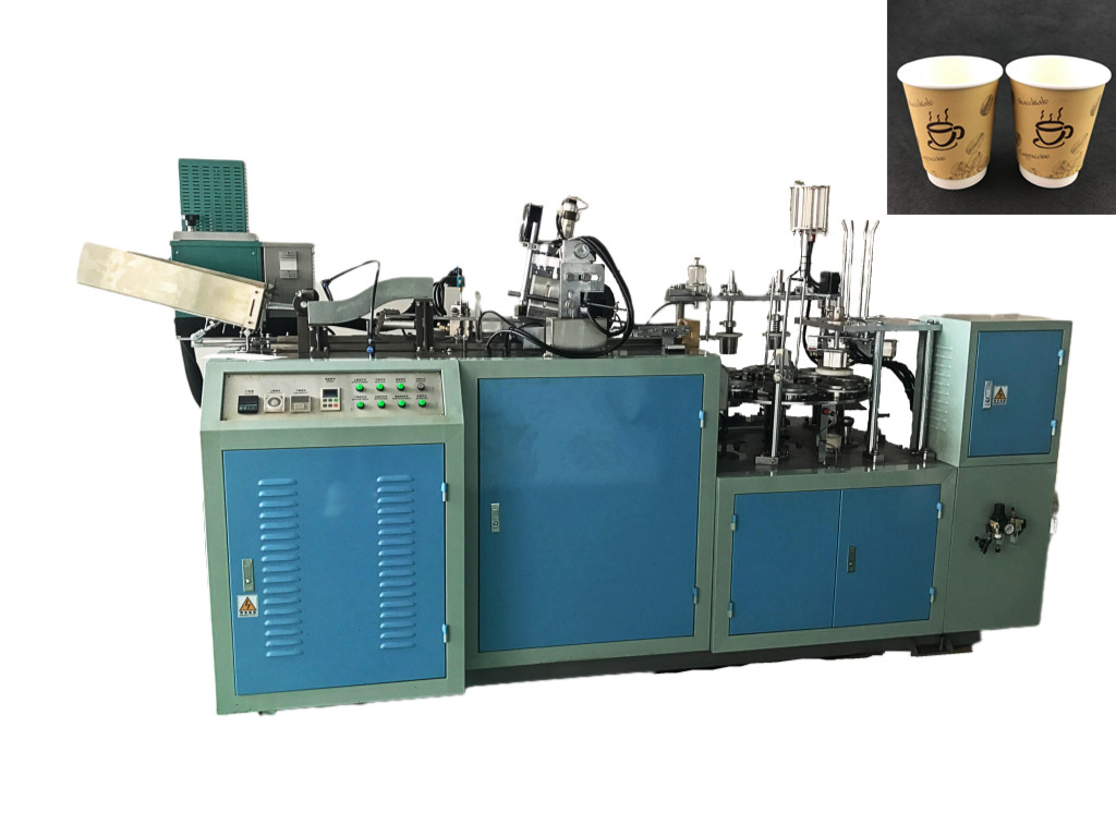 JBW-DM Double Wall Paper Cup Sleeve Machine With Hot Melt System speed 45-50pcs/min with CE Certificate